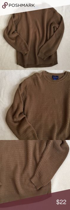 Club Room Sweater Tan pullover sweater. 100% cotton. Club Room Sweaters Crewneck