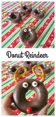 Donuts that look like reindeer! The kids will love these for Christmas morning!