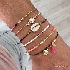 Little Shell Bracelet – Black Tassel Bracelet, Shell Bracelet, Woven Bracelets, Ankle Bracelets, Bracelet Set, Seed Bead Jewelry, Cute Jewelry, Friendship Bracelets With Beads, Personalized Jewelry