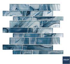 Magical Forest Random Brick Mosaic Glass Tile in Periwinkle Dust   Starting at $26.92/Sheet   #glasstile #mosaictile #mosaicglasstile