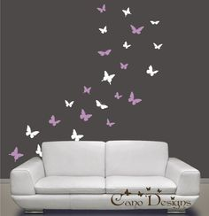 Butterflies Set of 24 2 colors Vinyl wall decals by canodesigns, $20.99
