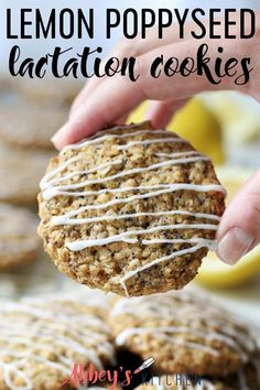 These Lemon Poppyseed Vegan Lactation Cookies are gluten free, dairy free and plant based, while being packed with nutritious ingredients to help increase breast milk supply for breastfeeding mamas. Healthy Lactation Cookies, Lactation Smoothie, Lactation Foods, Dairy Free Recipes, Gluten Free, Dairy Free Lactation Recipes, Vegan Recipes, Snack Recipes, Milk Recipes