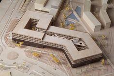 Mvc Architecture, Healthcare Architecture, University Architecture, Landscape Architecture Design, Concept Architecture, School Architecture, Architecture Presentation Board, Hospital Design, Arch Model