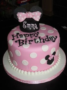 Minnie Mouse Girls Cake and Cupcakes