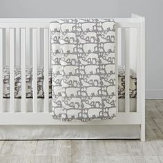Arctic Animals Baby Bedding | The Land of Nod - Love this but it would only be for winter
