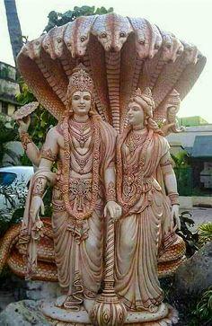 Vishnu and lakshmi. Shiva Parvati Images, Krishna Hindu, Lord Krishna Images, Hindu Deities, Durga Maa, Lord Shiva Statue, Krishna Statue, Lord Vishnu, Hindus