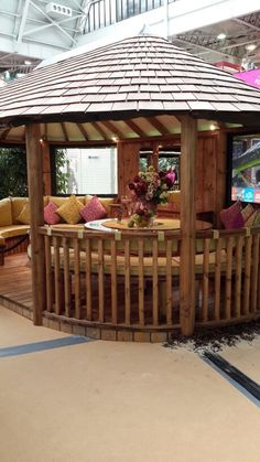 Outdoor retreat. (Ideal home exhibition 2015). Photograth (c) Copyright of BOW & DIAMOND GROUP, 2008.