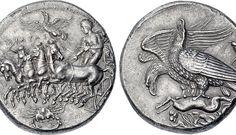 ANCIENT GREEK COIN (AKRAGAS-ΑΡΜΑΤΟΔΡΟΜΙΑ ΕΞΕΝΤΟΥ ΕΚ ΤΟΥ ΑΚΡΑΓΑΝΤΑ)