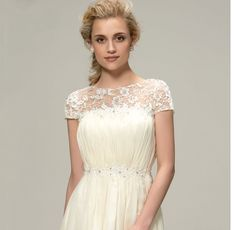 Elegant Long A-Line Ruched Beaded Floral Chiffon Bridesmaid Dress