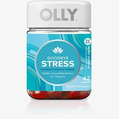 Goodbye Stress  In times of stress, your brain waves can get out of whack and may ignite that vicious loop of worrisome thoughts we all dread. Well, not to fret. Say hello to OLLY Goodbye Stress - your little day spa in a bottle.