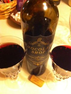 """@Laura Jayson Iriarte photo: """"Finally about to try the chocolate shop dessert wine my son @Nick C Iriarte got me for Xmas at his work #worldmarket"""""""
