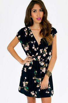 Floral Fusion Dress $56 at www.tobi.com