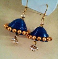 Handmade Jewelry | Blue Quilled Jhumka