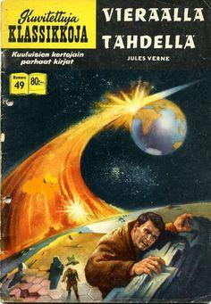Off on a Comet HRN 155 Gilberton Comic Book Classic Comics/Classics Illustrated 149 B Vintage Comic Books, Vintage Comics, Vintage Library, Old Time Radio, Science Fiction Books, Fiction Novels, Film D'animation, Jules Verne, Sci Fi Books
