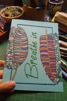 Embroidery on paper/ handmade notebook Handmade Notebook, Notebooks, Cactus, Embroidery, Paper, Needlepoint, Notebook, Laptops, Crewel Embroidery