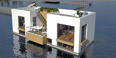 Artist impression floating house
