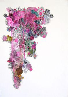 Carolina Ponte  Sem Título  2008  Desenho, acrílica e caneta sobre papel  51 x 35,5 cm