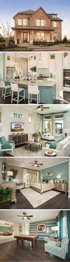 Located in the master-planned community of Prairie View in Frisco, Texas! Interior And Exterior, Interior Design, House Layouts, House Goals, Model Homes, Lofts, Home Staging, House Floor Plans, My Dream Home