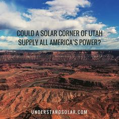 An area of 254 km x 254 km would be enough to meet the total electricity demand of the world... More: http://understandsolar.com/solar-utah-supply-all-america-power/  #understandsolar #solar #solarpower #solarenergy #solarlife #solarpanel #solarpanels #so