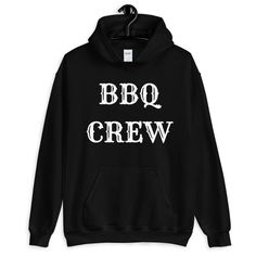 BBQ Crew Unisex Hoodie, BBQ Crew Sweatshirt, Barbecue Hoodie, Father's Day Gift Crew Sweatshirts, Hoodies, White Face Mask, Beautiful Mask, Fashion Group, Fathers Day Gifts, Barbecue, Etsy Store, Unisex