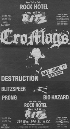 Cro-Mags flyer from back in the day