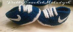 Crochet Baby shoes inspired in tenis nike