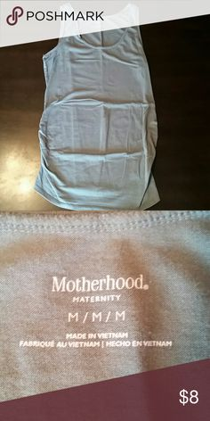 Motherhood Maternity Tank Top Super comfortable maternity tank top with side ruching. Great condition. It is an olive color of green. Motherhood Maternity Tops Tank Tops