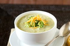Broccoli Cheese Soup Recipe (made with 'velveeta type' cheese) quick and easy