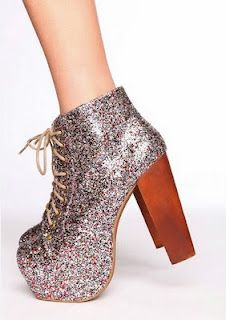 Jeffrey Campbell Silver Glitter Litas. SO MUCH PERFECTION IN ONE PAIR OF SHOES!!