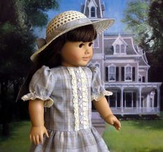 American Girl Doll Party Dress and Hat with by SewFunDollClothes