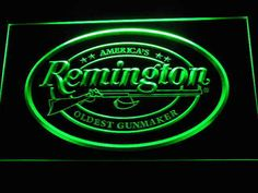 Remington Firearms Hunting Gun LED Neon Sign Man Cave D233-G #RetroandNostalgicOldFurniture