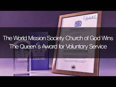 The World Mission Society Church of God Wins The Queen's Award for Voluntary Service - YouTube