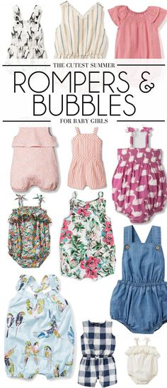 these are the cutest rompers for baby girls - baby girls outfits for summer: