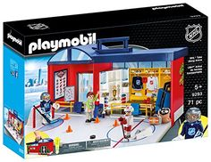 Playmobil Playmobil Nhl Take Along Arena 9293 Play Set Hockey Gear, Hockey Games, Hockey Players, Playmobil Sets, Number Sets, Nhl Logos, Toys R Us Canada, Number Stickers, Toys