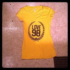 Yellow love 98 tee shirt Yellow love 98 tee shirt size small from reserved very cute Reserved Tops Tees - Short Sleeve