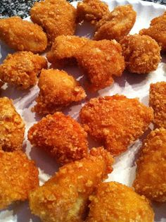 ZERO CARB   INGREDIENTS  1 lb. Boneless, Skinless Chicken Breast   1 1/2 Cups Crushed Pork Rinds  1/2 Cup Parmesan Cheese – Grated  1/2 tsp. Garlic Powder  3/4 Cup Buffalo Wing Sauce  2 Tbs. Butter  Oil