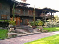"""The David Gamble House (of Proctor and Gamble) in Pasadena, CA.  Used as Doc Brown's 1950's home in """"Back to the Future."""""""