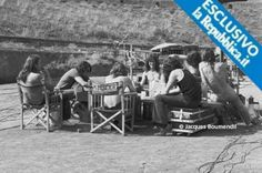 Pink Floyd During Their Stay for filming in Pompeii