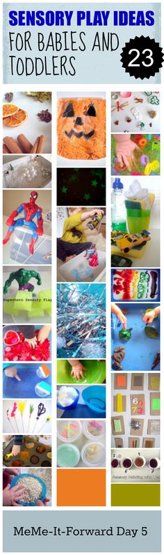 Sensory Play ideas for babies and toddlers is so critical! 23 awesome and creative ideas here.