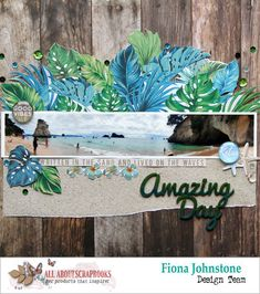 Amazing Day with Kaisercraft Paradise Found by Fiona Johnstone (All About Scrapbooks Australia) Paper Bag Scrapbook, Travel Scrapbook, Scrapbook Supplies, Scrapbook Pages, Scrapbook Designs, Scrapbooking Layouts, Paper Palm Tree, How To Make A Paper Bag, Birthday Scrapbook