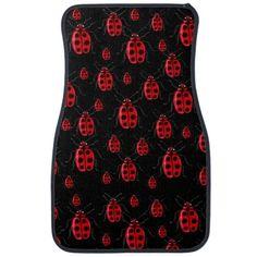 Shop Ladybugs Art Car Floor Mat created by ursinelogic. Custom Car Mats, Custom Cars, Emo, Ladybug Art, Wordpress Theme Design, Car Floor Mats, Punk, Black Backgrounds, Ladybugs