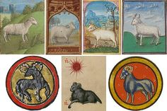 Warm-hearted, empathetic + impetuous Aries (ram) from medieval calendars Aries Art, Zodiac Signs Aries, Medieval Manuscript, Medieval Art, Making Books, Getty Museum, Book Of Hours, North Africa, Middle Ages
