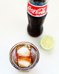 Friday Happy Hour: The Cuba Libre with Aged Rum, Mexican Coca-Cola, and Citrus Bitters, Photo Credits: Nole Garey for Oh So Beautiful Paper: http://ohsobeautifulpaper.com/2014/05/friday-happy-hour-cuba-libre/ #cocktail #recipe #osbphappyhour