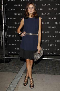 Olivia Palermo | Mango dress | Valentino clutch | Jimmy Choo shoes