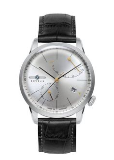Shop for Graf Zeppelin Stainless Steel/Leather Flatline Automatic Watch with Power Reserve. Get free delivery On EVERYTHING* Overstock - Your Online Watches Store! Fine Watches, Cool Watches, Wrist Watches, Latest Watches, Men's Watches, Zeppelin Watch, Gadget Watches, Affordable Watches, Online Watch Store