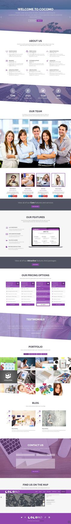CocoMo – Creative OnePage & MultiPage Template