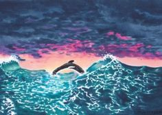 Color the ocean with Copic markers - A tutorial by Jayleen Weaver