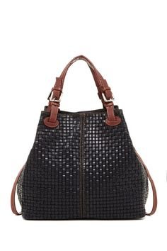 Leather Woven Bucket Bag by Isabella Rhea on @nordstrom_rack