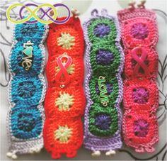 Pulsera tejida #crochet #hilaza # color #hechoamano #handmade