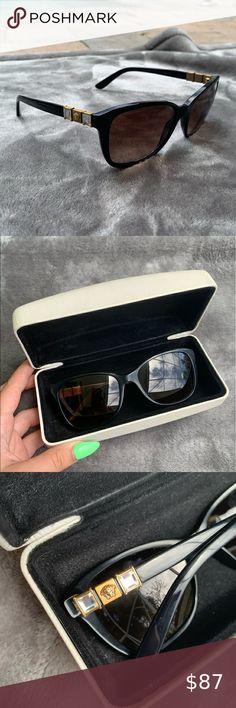 Authentic Versace sunglasses plus case Black framed Versace sunglasses with white case  MOD 4293-B COMES WITH VERSACE WHITE CASE Glasses are in very good condition Versace Accessories Sunglasses